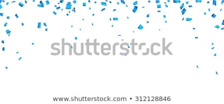 Blu confetti party design sfondo arte Foto d'archivio © gladiolus