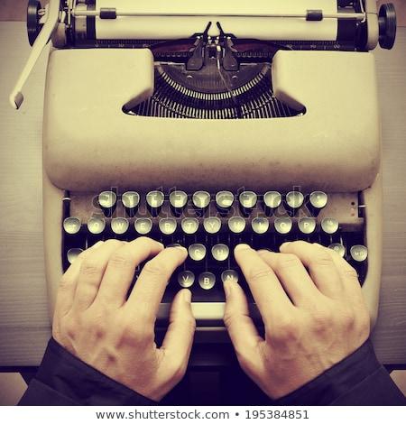 man typewriting, filtered Stock photo © nito