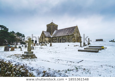 Church in winter forest Stock photo © Steffus