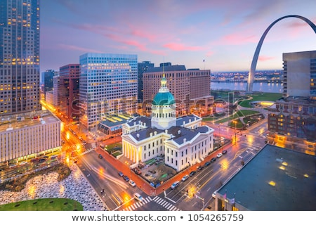 Downtown St Louis, MO with the Old Courthouse and the Gateway Ar Stock photo © AndreyKr