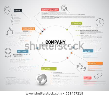 Vektor · Unternehmen · Design-Vorlage · dünne · line - stock foto © orson