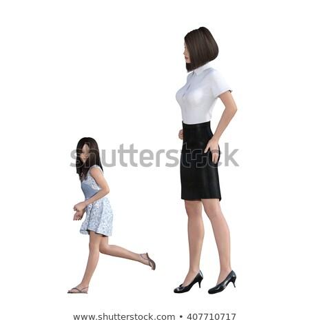 Madre figlia interazione ragazza esecuzione Foto d'archivio © kentoh