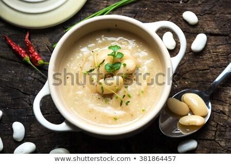 beyaz · fasulye · güveç · lezzetli · ev · yapımı · sığır · eti - stok fotoğraf © digifoodstock