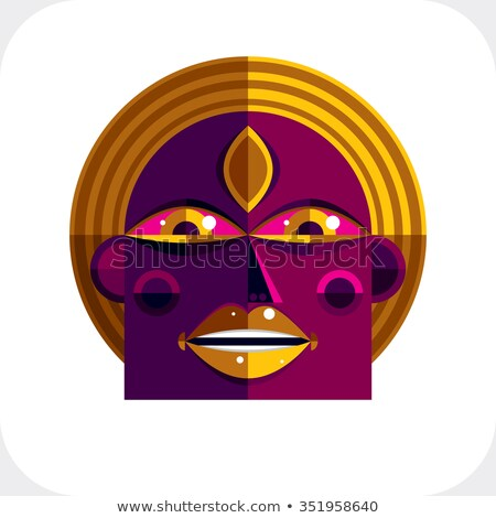 Bright personality (symbolic figures of people) Stock photo © grechka333