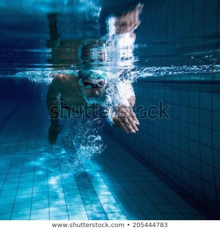 sportos · férfi · úszómedence · fiatalember · sport · vonat - stock fotó © wavebreak_media