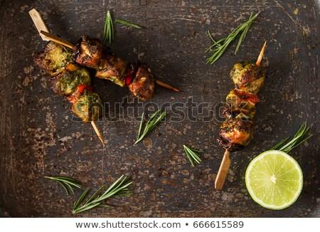барбекю · белый · продовольствие · лет · обеда - Сток-фото © digifoodstock