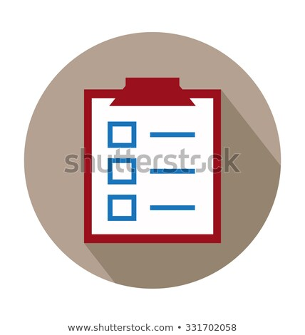 A medical chart with check marks Stock photo © bluering