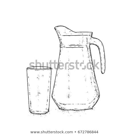 Színes víz illusztráció sör háttér zöld Stock fotó © bluering