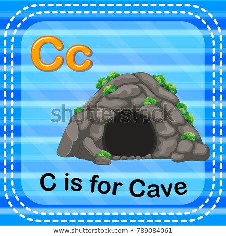 Flashcard letter C is for cave Stock photo © bluering