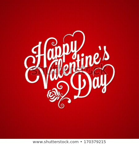 Valentine gün metin kalp çiçek düğün Stok fotoğraf © rioillustrator