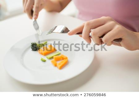Diet word on plate Stock photo © fuzzbones0