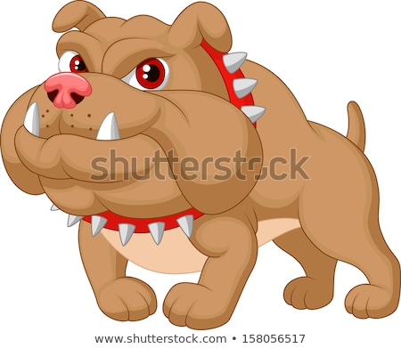 Stockfoto: Angry Cartoon Watchdog