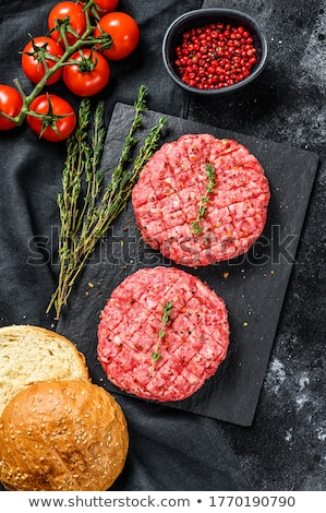 ruw · hamburger · voedsel - stockfoto © Digifoodstock