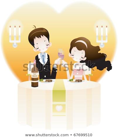 çift tarih gece clipart görüntü düğün Stok fotoğraf © vectorworks51