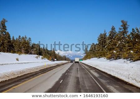 rural · celeiro · inverno · pequeno · Colorado · coberto - foto stock © pixelsaway