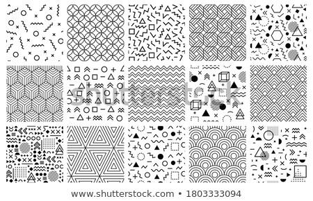 Vector Seamless Black And White Irregular Maze Grid Geometric Pattern Stock photo © CreatorsClub