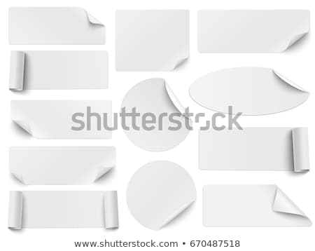Set of rectangle labels with rounded corners Stock photo © orson