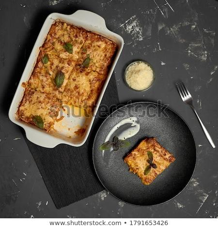 Square ceramic baking dish Stock photo © Digifoodstock