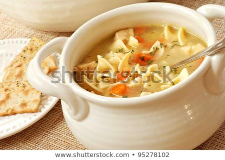 Cserépedények leves bögre fogantyú csésze edény Stock fotó © Digifoodstock