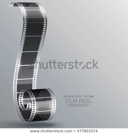film strip in 3d style vector design Stock photo © SArts