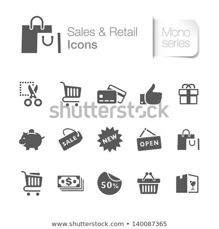gri · hediye · çanta · şerit · yalıtılmış · kâğıt - stok fotoğraf © devon