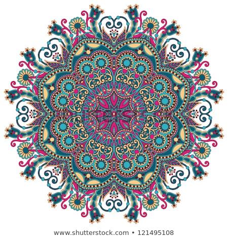 Round ornamental geometric doily pattern Stock photo © maxmitzu