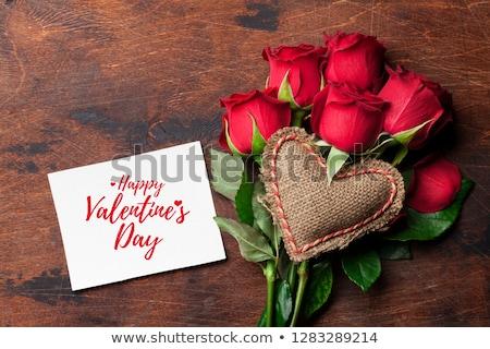 Valentine flori creator fotografie inimă Imagine de stoc © Fisher