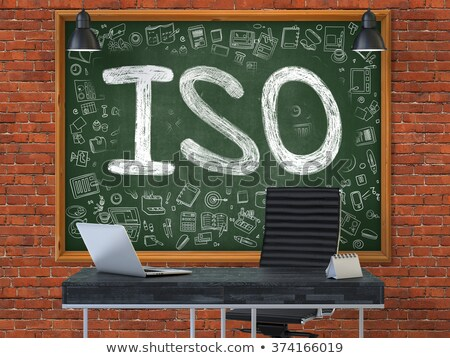 ISO - Hand Drawn on Green Chalkboard. Stock photo © tashatuvango
