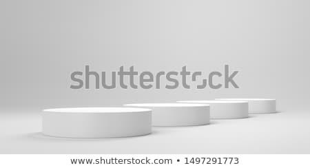 white cylinder podium 4 stock photo © oakozhan