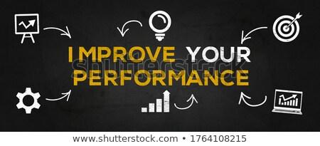 Achieve Your Goals - Text on Blue Arrow. 3D. Stock photo © tashatuvango