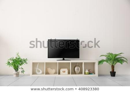 Modern LCD tv készülék fehér terv technológia Stock fotó © Nobilior