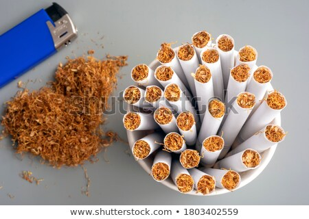 3d · illustration · nikotin · bağımlılık · sağlık · stres · durdurmak - stok fotoğraf © magann
