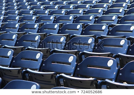 blue plastic stadium seats stock photo © stevanovicigor