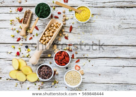 Superfoods on the wooden background Stock photo © Alex9500