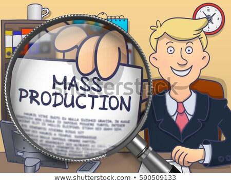 otimização · lente · rabisco · estilo · lupa · homem · de · negócios - foto stock © tashatuvango
