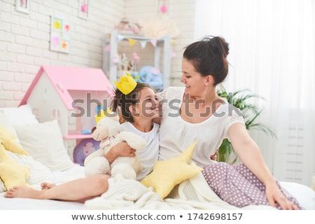 Anya ölel baba nő szépség Európa Stock fotó © IS2