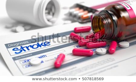 diagnose · medische · belediging · Blauw · pillen · spuit - stockfoto © tashatuvango