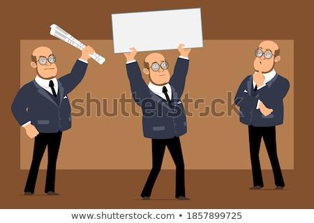 Smart knap zakenman lege collage achtergrond Stockfoto © majdansky