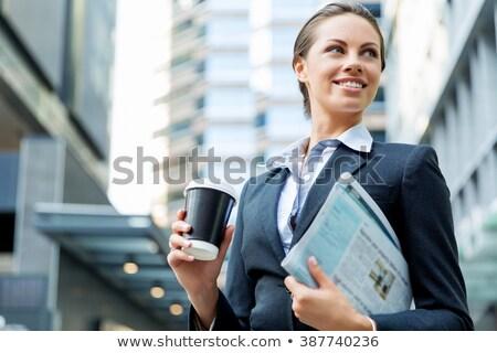 üzletasszony üzlet ebéd üzletasszony kávézó nő Stock fotó © alexanderandariadna