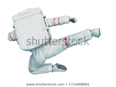 Hombre saltar lado patear retrato equilibrio Foto stock © IS2