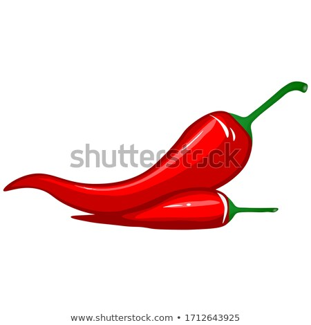 closeup of dried red chili peppers bouquet stock photo © milsiart