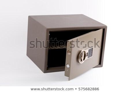 ajtó · bank · agykoponya · elektronikus · számkombinációs · zár · ikon - stock fotó © studioworkstock