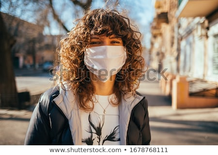 Girl in a protective mask Stock photo © IS2