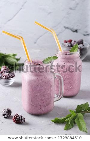 berry fruit smoothie or milkshake Stock photo © M-studio