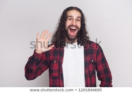 Man Hello hand Stock photo © studiostoks