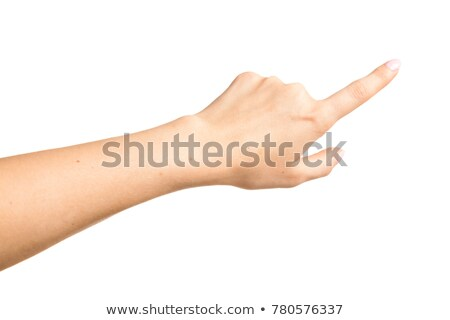 Closeup shot of female hand with beautiful manicured fingers wip Stock photo © Nobilior