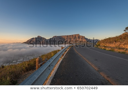 table mountains and highway in the desert stock photo © ustofre9