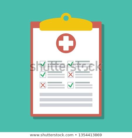Emergência resposta clipboard ilustração isolado branco Foto stock © alexmillos