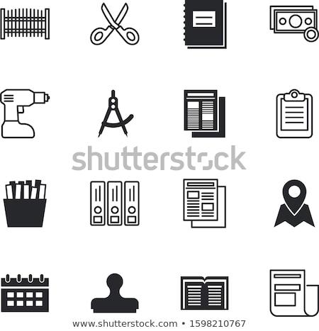 Vragenlijst kompas beslissing keuze kiezen Stockfoto © devon