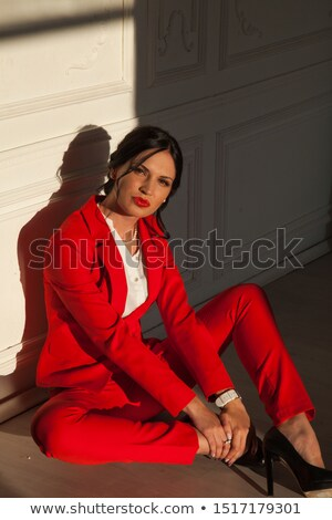 Black jacket pants business woman_alcohol stock photo © toyotoyo